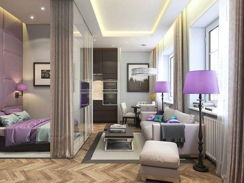 дизайн квартиры 40 кв.м для семьи с двумя детьми фото